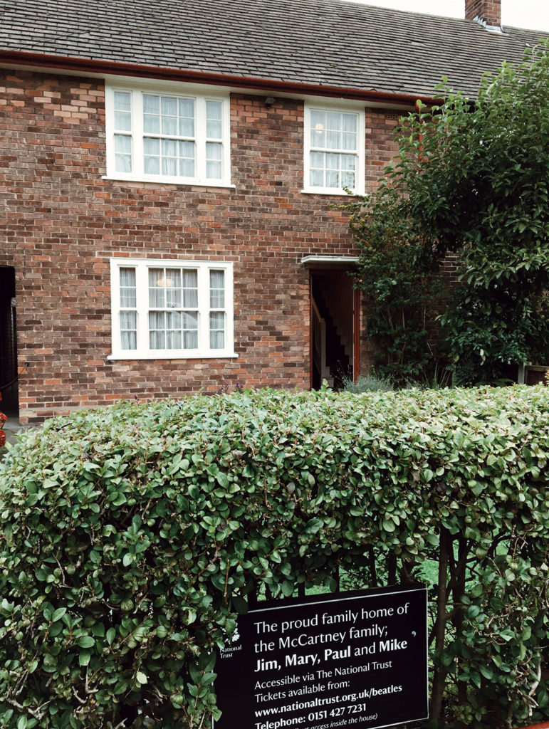 Paul McCartney's childhood home, where the Beatles used to have band practice!